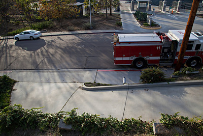 La Mesa Fire Department parking in red zone to go to Starbucks