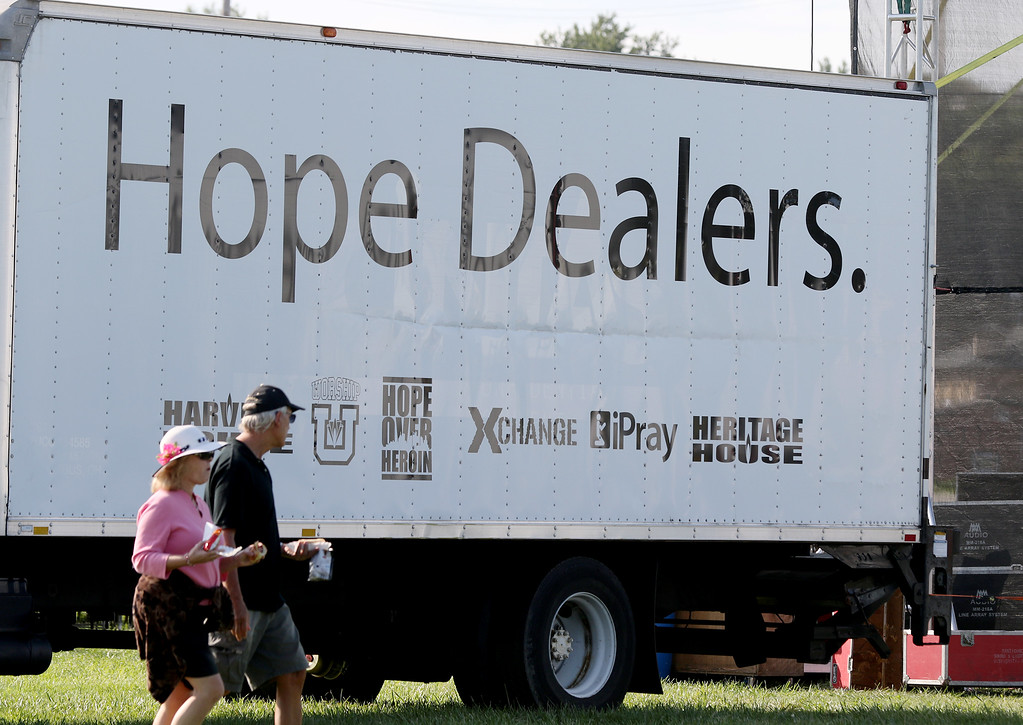 . Jonathan Tressler - The News-Herald. A scene Aug. 25 from the opening day of the two-day Hope Over Heroin Lake County event at the Lake County Fairgrounds.