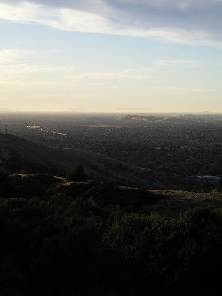 Closer view of the distant smear that is Martial Cottle Park, and Communications Hill behind it (which looks so tall from home).