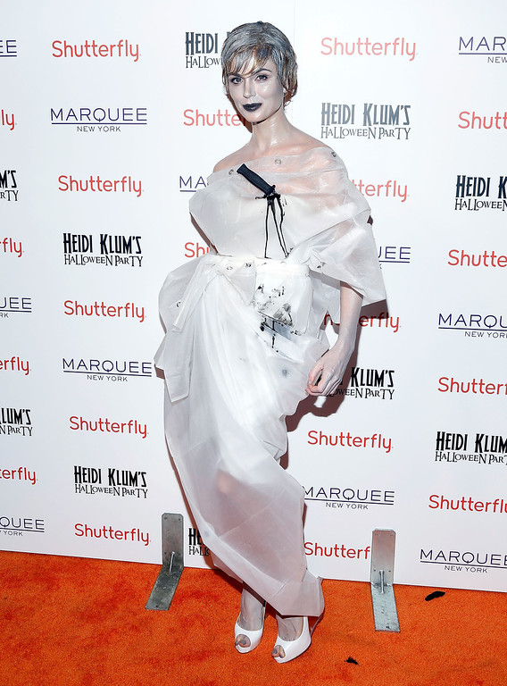 . Designer Georgina Chapman attends Shutterfly Presents Heidi Klum\'s 14th Annual Halloween Party sponsored by SVEDKA Vodka and smartwater at Marquee on October 31, 2013 in New York City.  (Photo by Cindy Ord/Getty Images for Heidi Klum)