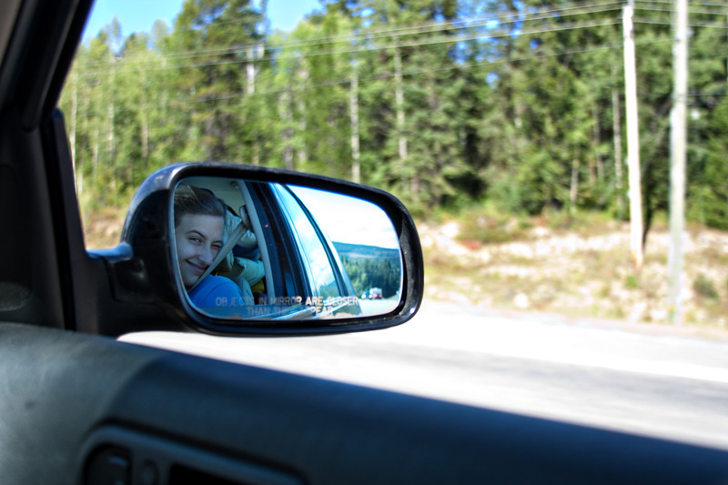 August 25, 2012. Day 232.  My mirror is blue.   British Columbia, Canada