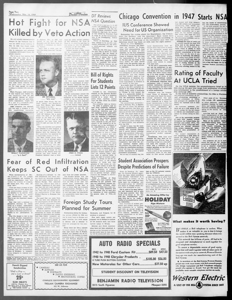 Daily Trojan, Vol. 40, No. 99, March 16, 1949