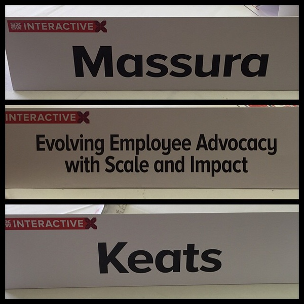 Feeling legit. #SXSW #employeeadvocacy