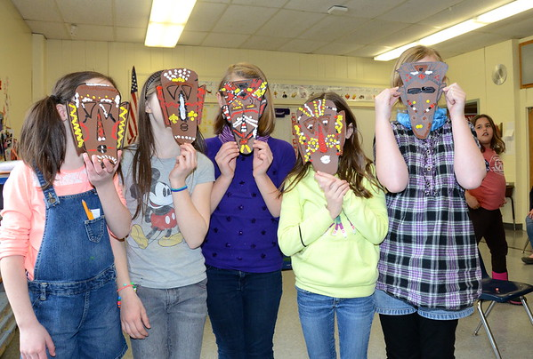 Third Grade Aboriginal Masks photos by Gary Baker