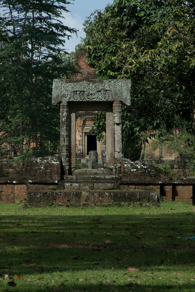 Shrine near Angkor Thom Bridge in Siem Reap, Cambodia