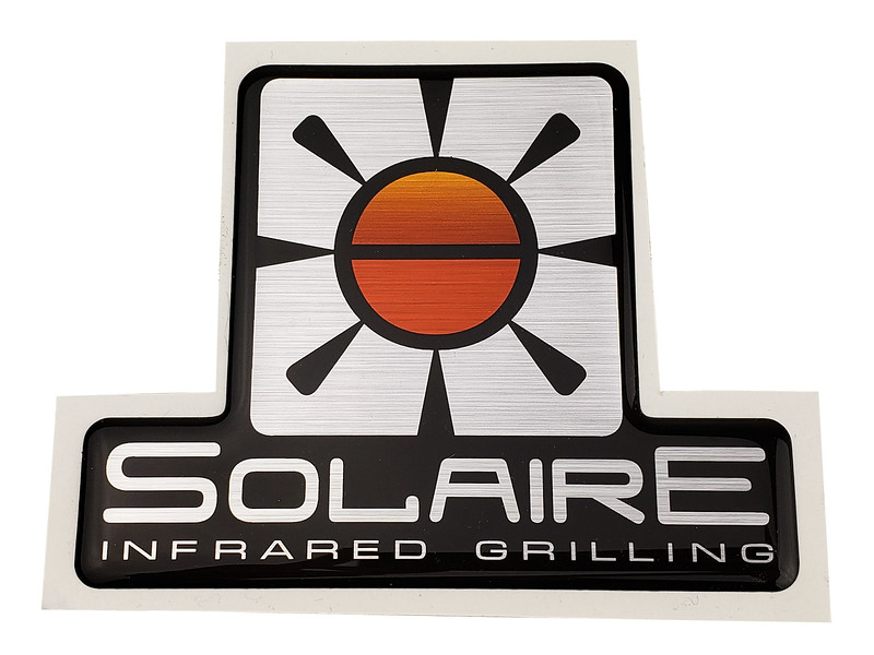ITEM SOL-LOGODT-LARGE Logo, Large Solaire, Dome Tag, adhesive backed
