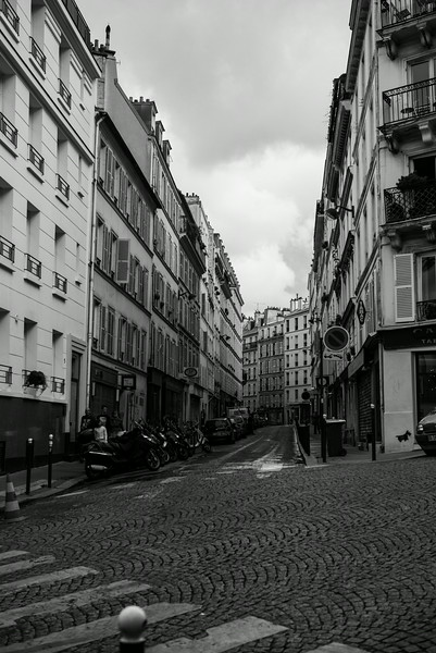 Street in the Montmatre District of Paris