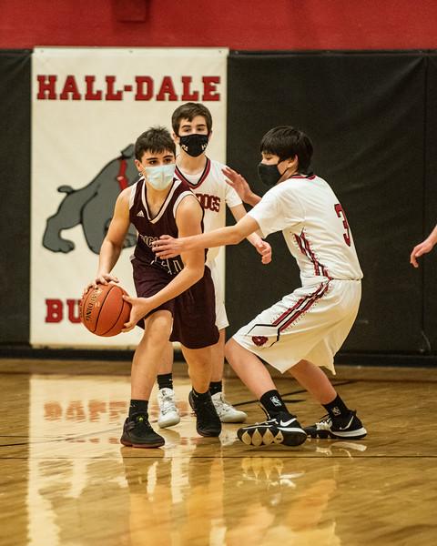 2021 JV Boys Basketball:  Hall-Dale vs Richmond