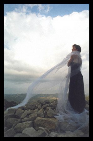 I photographer my sister the day before her wedding in Siagnon, France in this Maxfield Parish style image.
