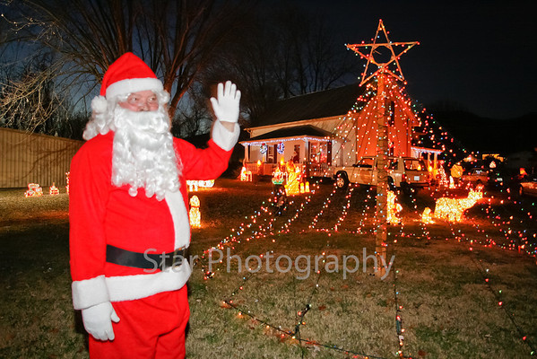 Santa and Lights 11-30-2012