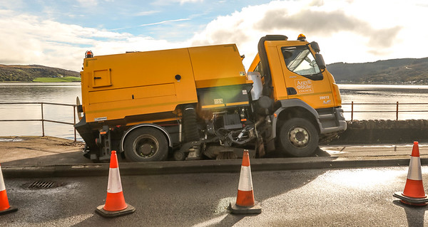 Road Sweeper and Sink Hole