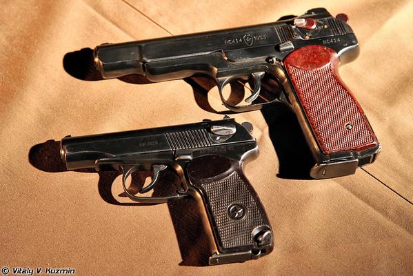 Moscow OMON firearms: Stechkin APS pistol, Glock 17, PYa pistol, SR1M and SR2M