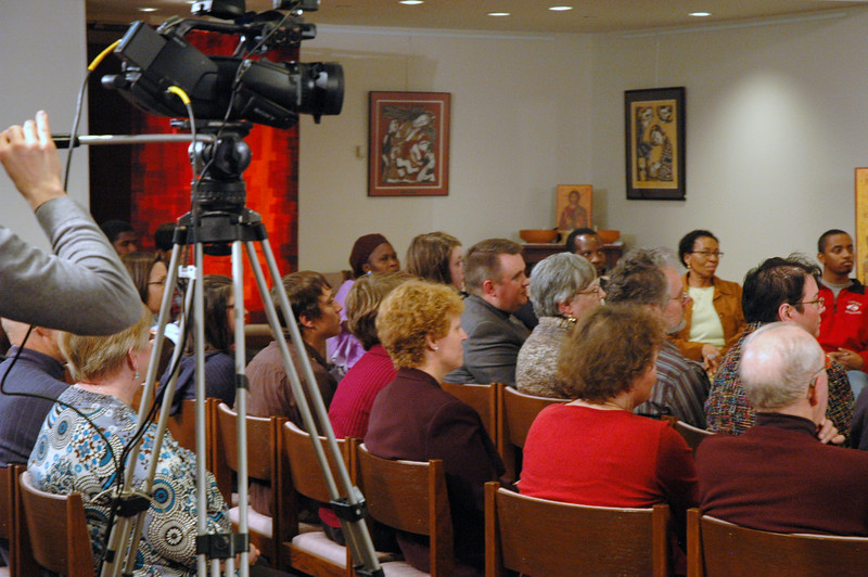 The Chicago Lutheran Center audience during the November 21, 2010 ELCA Online Town Hall Forum with Presiding Bishop Mark S. Hanson.