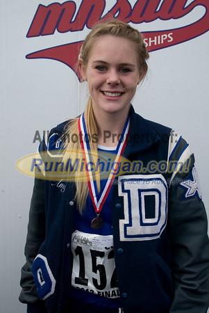Awards, D3 Girls - 2012 MHSAA LP XC Finals