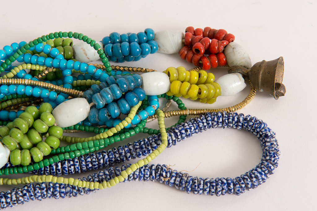 . Beaded necklaces for sale on Hunters Alley new website. Hunters Alley launches its new resale website January 22 with a selection of pre-owned furnishings and art starting at $25. (Photo by Michael Owen Baker/L.A. Daily News)
