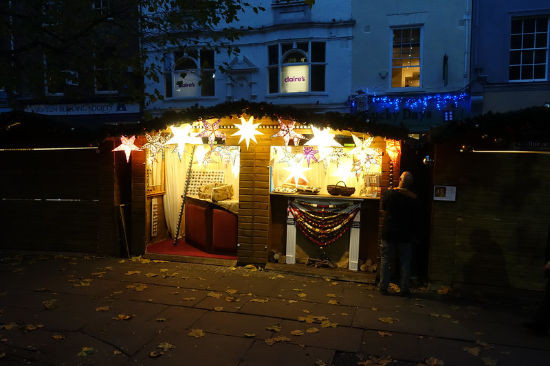 Shambles Market Readying for Christmas