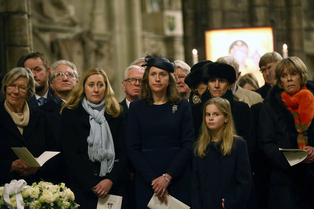 . People attend a commemoration service to mark the 50th anniversary of the death of Winston Churchill at Westminster Abbey on January 30, 2015 in London, England. A series of events are to be held throughout the UK to mark the 50th anniversary of the death Britain\'s war time leader.  (Photo by Carl Court/Getty Images)