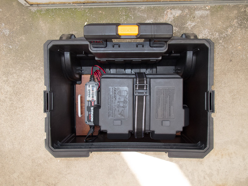 And then were installed in the tool box bottom case