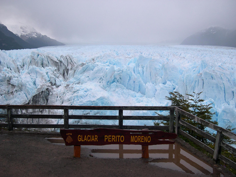 Moreno Glacier: This glacier  and many others feeds off of a  huge icefield west of the cont. divide, southern patagonia, the largest icefield outside of the poles in the world we were told.