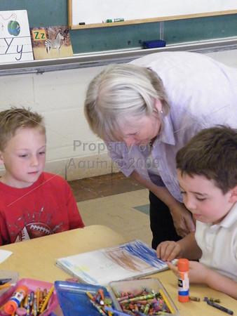 kindergarten visit day . 4.24.09