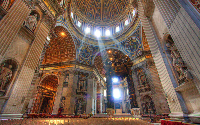High Altar at St. Peter's Basilica, Vatican City (HDR Image)