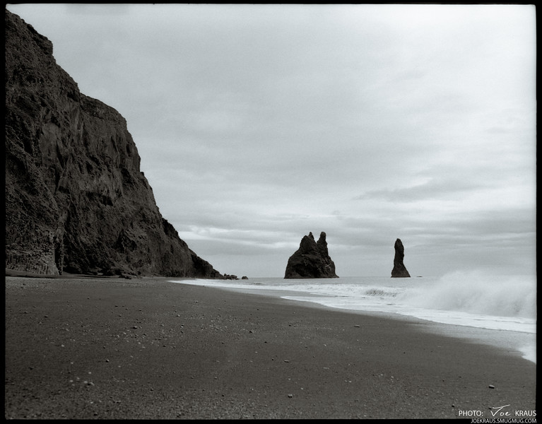 Black Beach Outcrops
