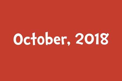 October, 2018