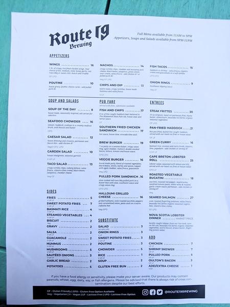 Cape Breton Inverness Route 19 Brewing menu.jpg