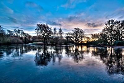 Hollow Pond at sunrise, London, United Kingdom