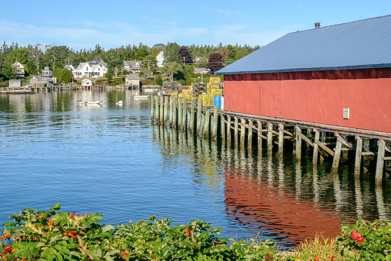 Maine Small Harbor Scene