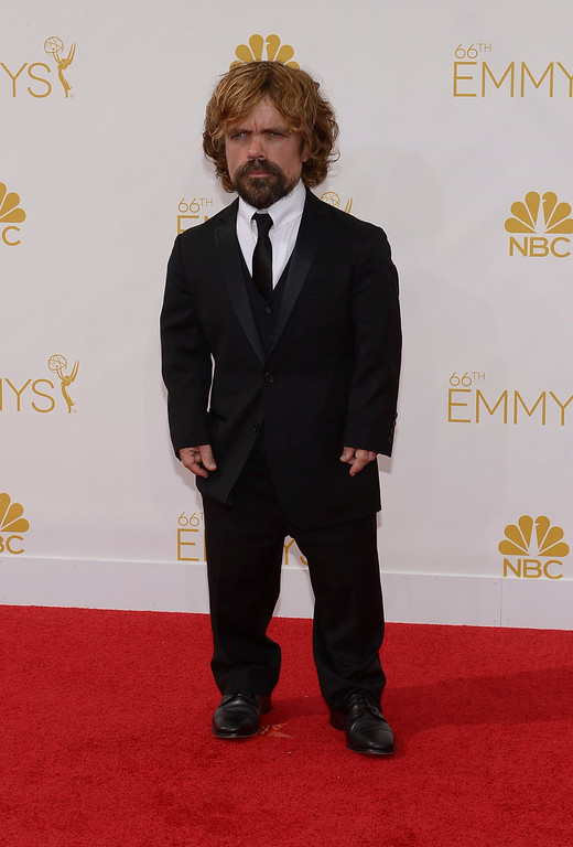 . Peter Dinklage on the red carpet at the 66th Primetime Emmy Awards show at the Nokia Theatre in Los Angeles, California on Monday August 25, 2014. (Photo by John McCoy / Los Angeles Daily News)