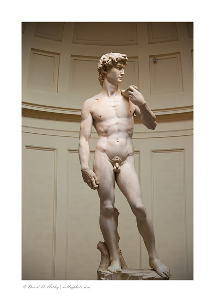 Michelangelo's statue of David, Galleria dell-Accademia, Florence, Italy