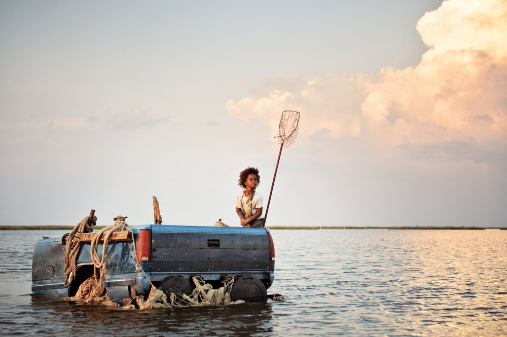 ". Quvenzhane Wallis as Hushpuppy in ""Beasts of the Southern Wild.\"" Photo Jess Pinkham/Provided by Fox Searchlight Pictures"