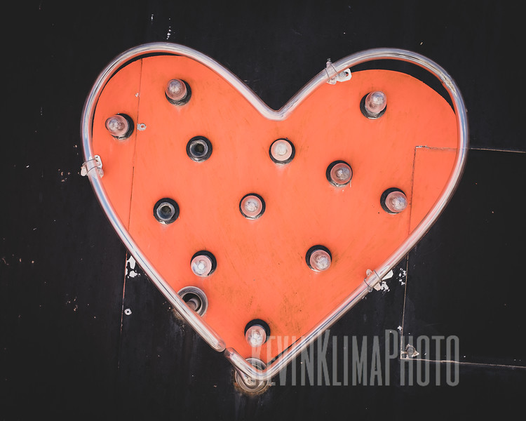 Neon Heart Sign