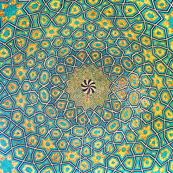 Dazzling Persian ceiling at Jameh Mosque, Yazd. #dna2iran #wir #gadv
