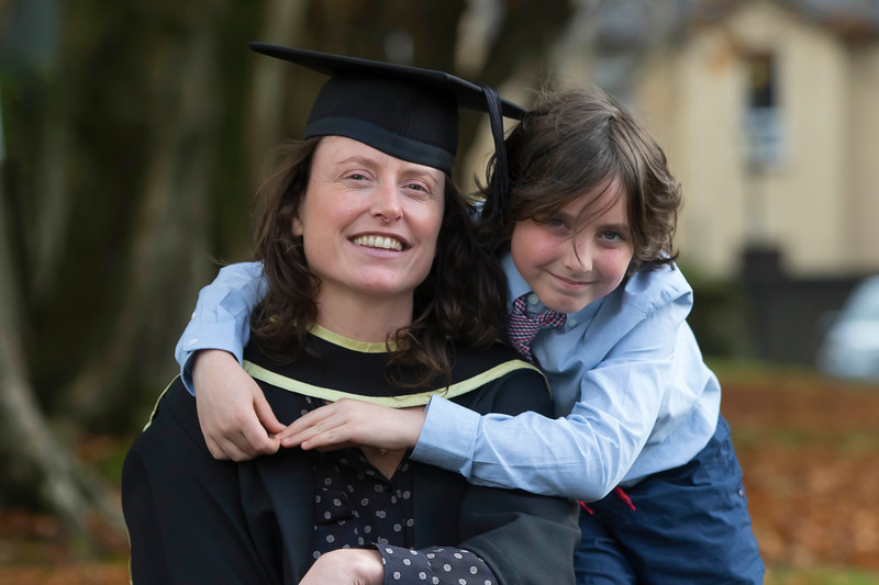 28/10/2015. Waterford Institute of Technology Conferring. Pictured Ann Croke, Waterford and Eavan Dowling, Kilkenny who graduated MA in Social Studies with her son Henry. Picture: Patrick Browne