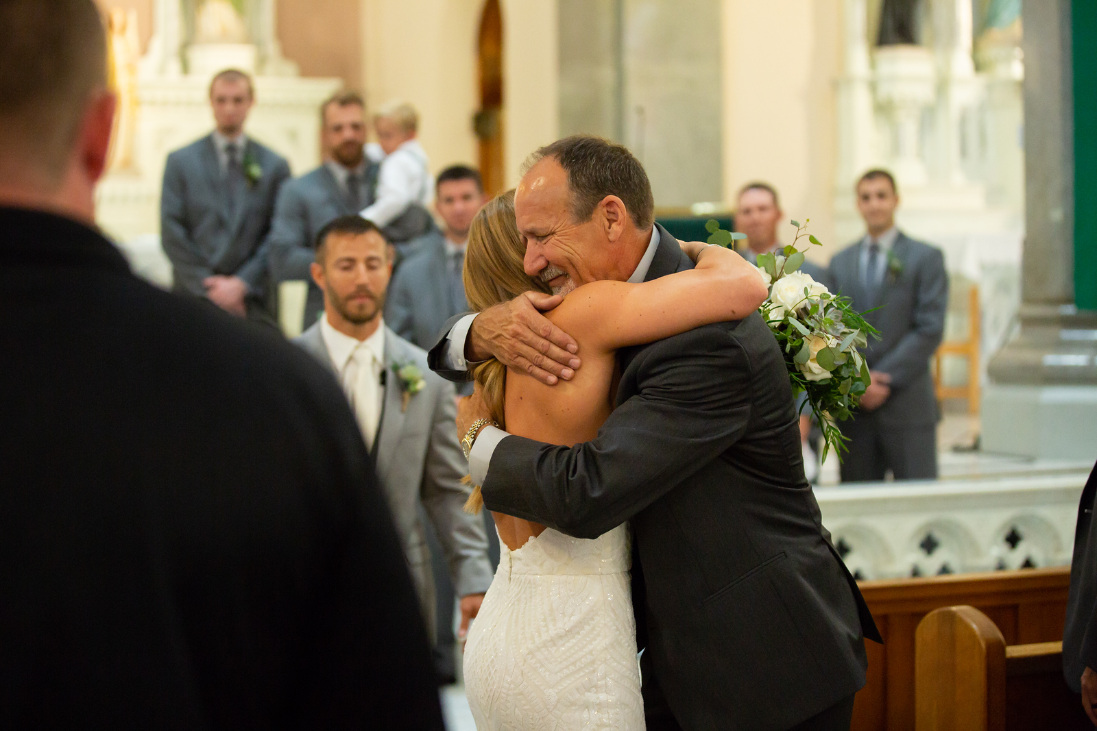 Father gives bride away
