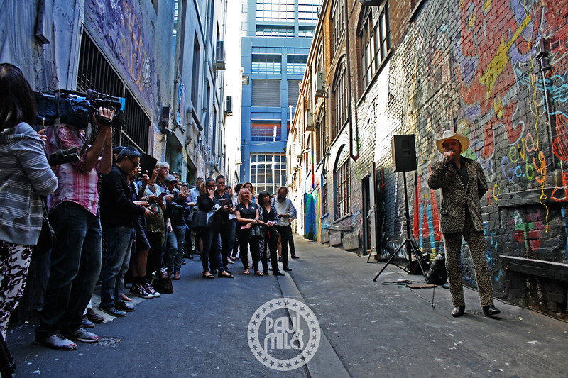 James Young in AC/DC Lane
