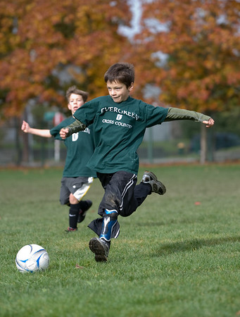 Evergreen Soccer grade 1-2