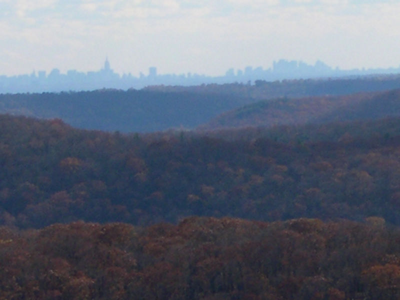 The NY skyline from the top of Black Mountain