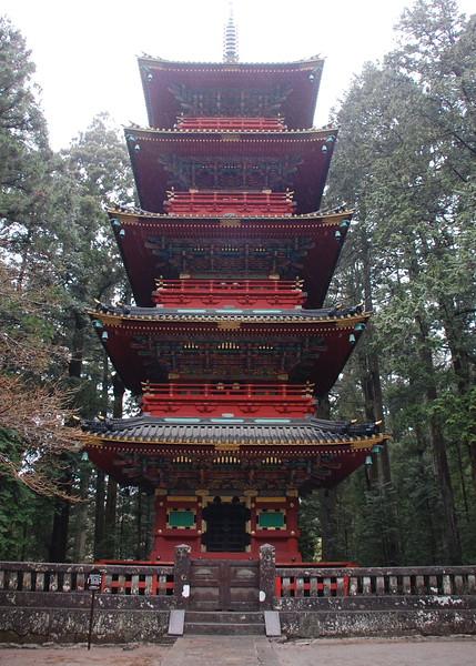 The Five Storied Pagoda at Nikko Toshogu shrine