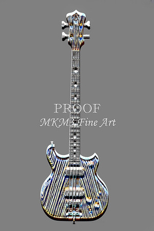 Alembic Bass Guitar Images Embossed Wall Art Prints