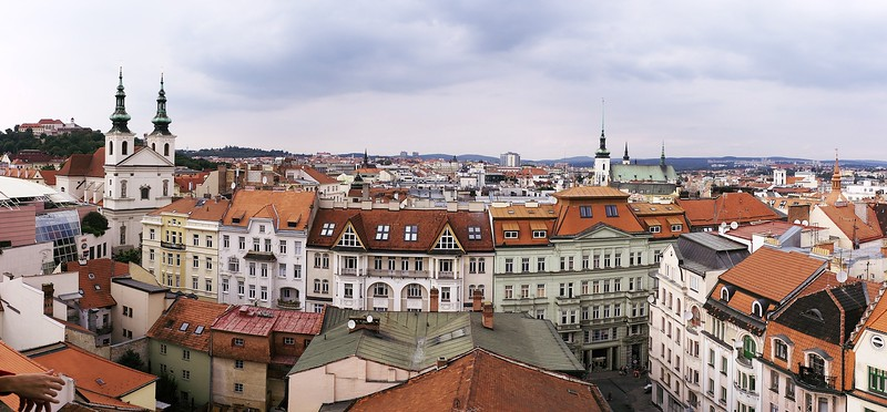 Výhled z brněnské radnice směrem na západ