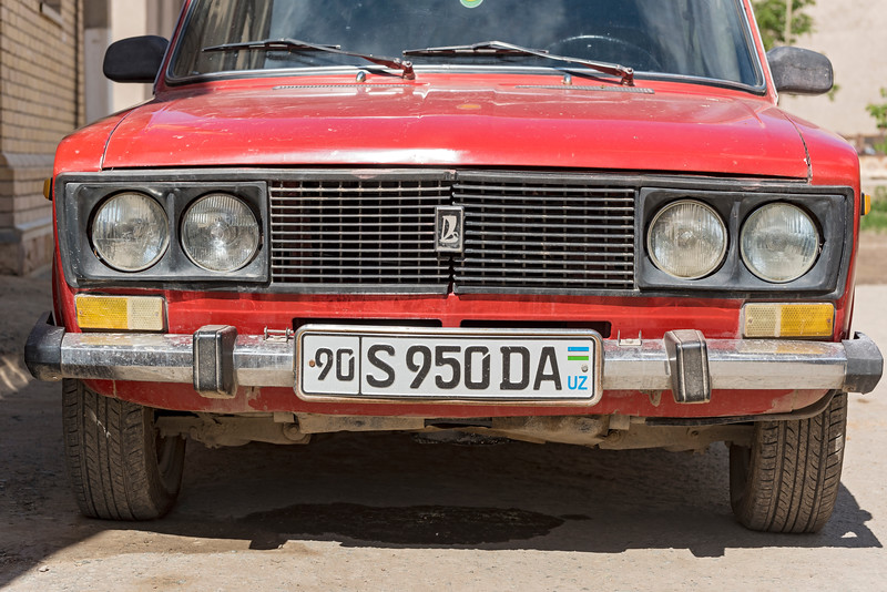 Soviet Lada Car Front, Uzbekistan