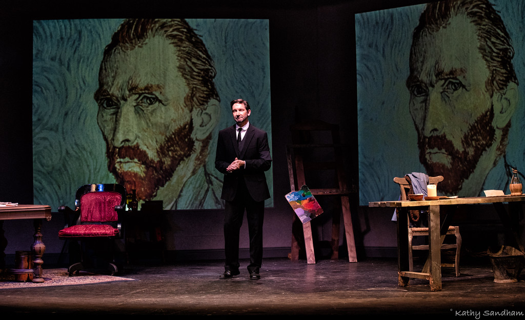 . Brint Learned portrays Theo Van Gogh in �Vincent,� which runs through Sept. 1 at Rabbit Run Theater to close out the season. �Vincent� is Leonard Nimoy�s one-man show about artist Vincent Van Gogh, told through the eyes of his brother. Call 440-428-7092 or visit www.rabbitrunonline.org for tickets or information. (Kathy Sandham)