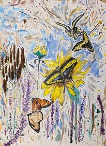 """I Will Rise"" (acrylic) by Elaina Goodkind"