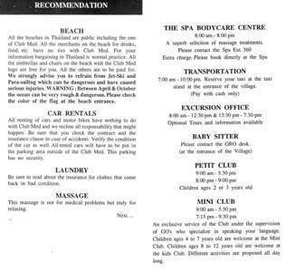 Club Med Phuket April 1999