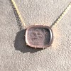 'INV My Letter' Pale Pink Glass Rebus Pendant, by Seal & Scribe 22