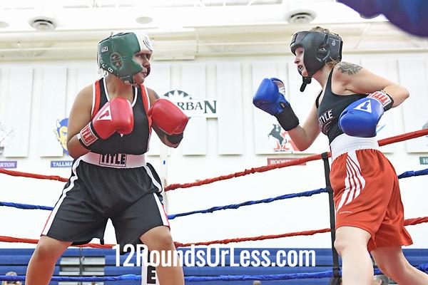 Bout #13:  Alicia Link, Blue Gloves, Cleveland vs Vianca Lozoya, Red Gloves, Saginaw, MI, 135 Lbs