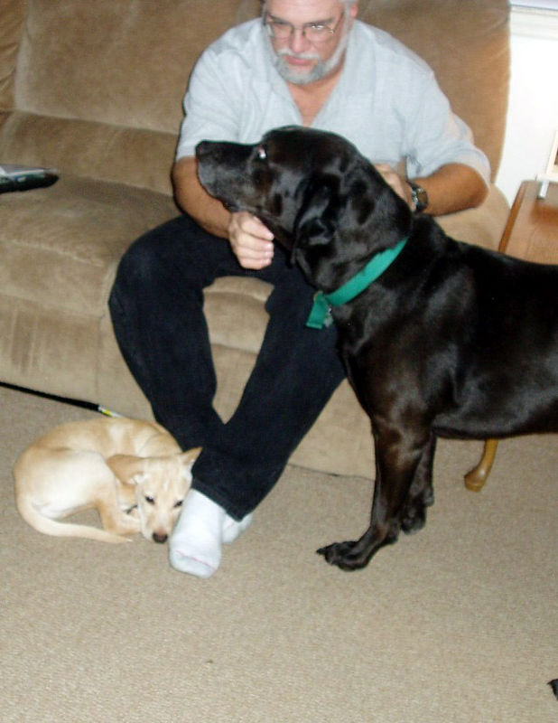 Boone, Charlie, and my dad.  Taken by my mom.